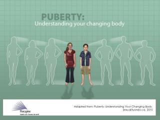 Adapted from:  Puberty: Understanding Your Changing Body.  SexualityandU, 2010