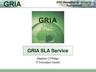 GRIA SLA Service