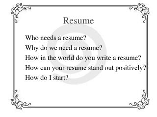 ppt how to write a resume 2016 powerpoint presentation