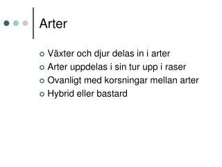 Arter