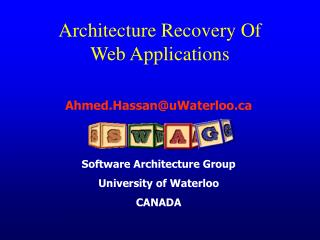 Architecture Recovery Of  Web Applications