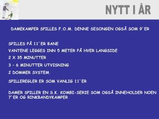 NYTT I ÅR