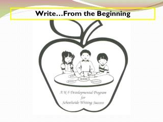 Write…From the Beginning