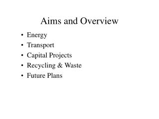 Aims and Overview