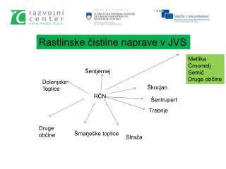 Rastlinske čistilne naprave v JVS