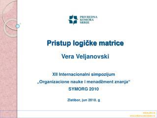 Pristup logičke matrice Vera Veljanovski
