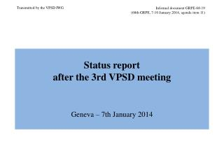 Informal document GRPE-68-19 (68th GRPE, 7-10 January 2014, agenda item 11)