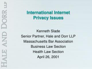 International Internet  Privacy Issues