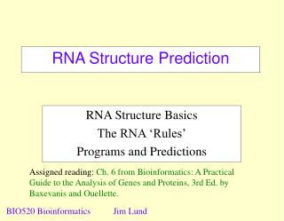 RNA Structure Prediction