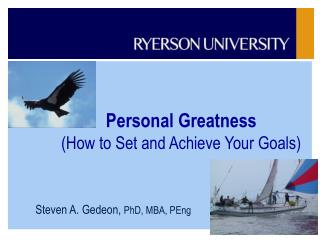 Personal Greatness How to Set and Achieve Your Goals