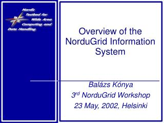 Overview of the NorduGrid Information System