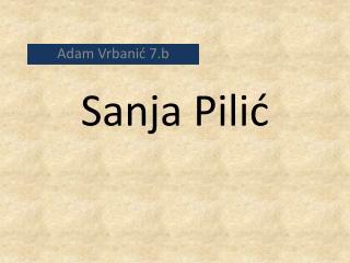 Sanja Pilić