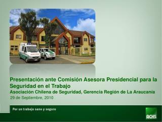 Presentación ante Comisión Asesora Presidencial para la Seguridad en el Trabajo