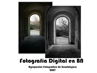 Fotografía Digital en BN