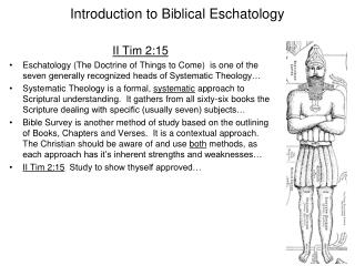 Introduction to Biblical Eschatology