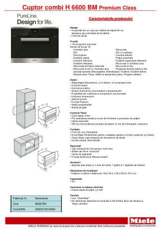 Cuptor  combi  H 66 00 BM  Premium  Class
