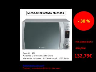 MICRO-ONDES CANDY CMG30DS