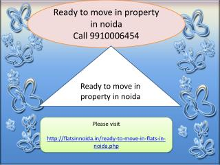 ready to move in property in noida
