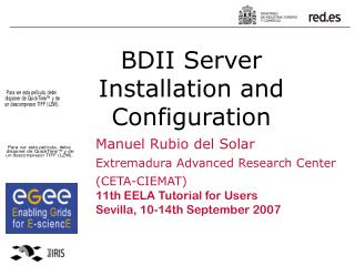 BDII Server  Installation and Configuration
