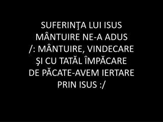 suferinta lui isus