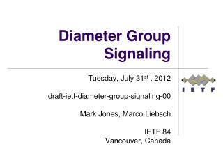 Diameter Group Signaling