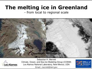The melting ice in Greenland   from local to regional scale