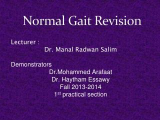Normal Gait Revision