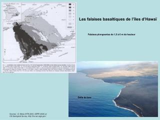 Les falaises basaltiques de l'îles d'Hawaï