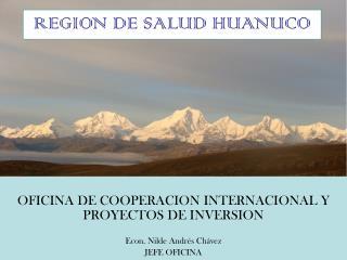 OFICINA DE COOPERACION INTERNACIONAL Y PROYECTOS DE INVERSION Econ. Nilde Andrés Chávez