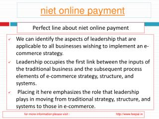 View about niet online payment
