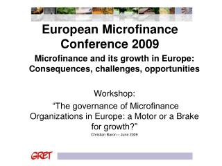 European Microfinance Conference 2009
