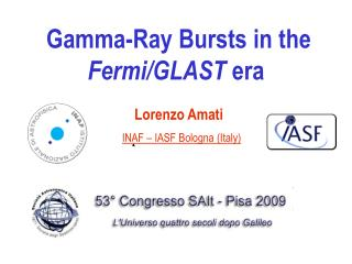 Gamma-Ray Bursts in the  Fermi/GLAST  era