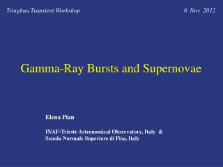 Gamma-Ray  Bursts and  Supernovae