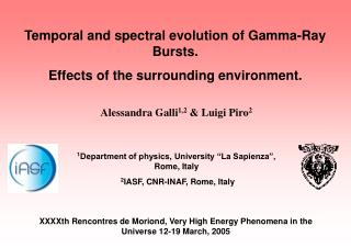 Temporal and spectral evolution of Gamma-Ray Bursts. Effects of the surrounding environment.