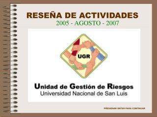 RESEÑA DE ACTIVIDADES