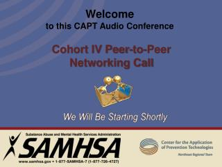 Welcome to this CAPT Audio Conference