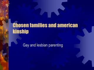 Chosen families and american kinship