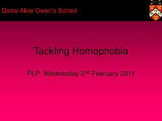 Tackling Homophobia