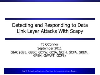 Detecting and Responding to Data Link Layer Attacks With Scapy