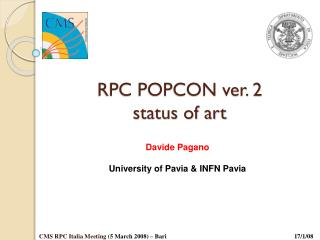 RPC POPCON ver. 2 status of art