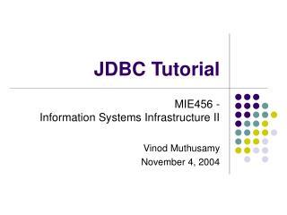 JDBC Tutorial