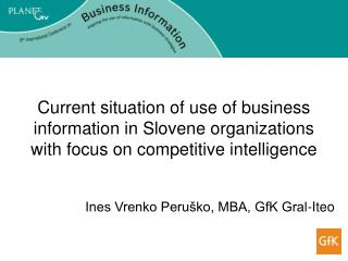Ines Vrenko Peruško, MBA, GfK Gral-Iteo
