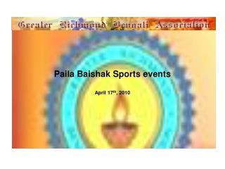 Paila Baishak Sports events April 17 th , 2010
