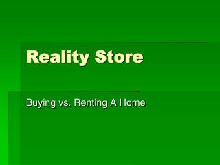 Reality Store