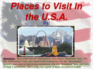 Places to Visit in the U.S.A.