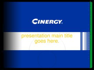 presentation main title  goes here.