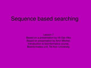 Sequence based searching