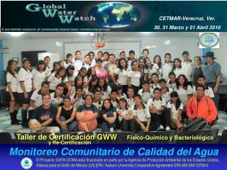 Taller de Certificación GWW     Físico-Químico y  Bacteriológico