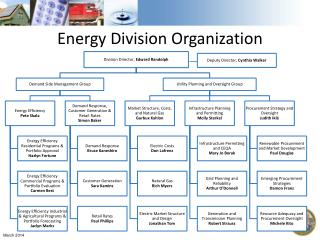 Energy Division Organization