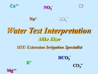 Water Test Interpretation